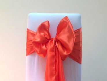 takeaseat-orange-satin-sash